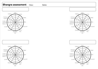 Bhangra assessment sheet