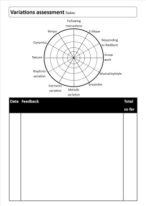 radar workbook page