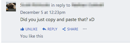 did you copy and paste that?